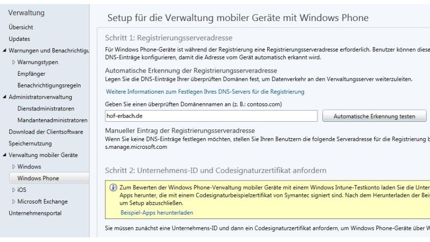 Windows Phone 8.1 verwalten Unternehmen optimal mit dem Cloud-Dienst Windows Intune.