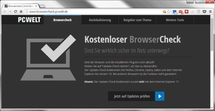 Der Browser-Check überprüft die Sicherheit Ihres Browsers, der Firewall und erzeugt auch sicher WLAN-Keys für Ihr kabelloses Netzwerk.
