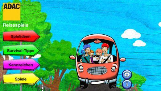 Kurzweil für die Kids auf der Rückbank verspricht der ADAC mit den Reisespielen.