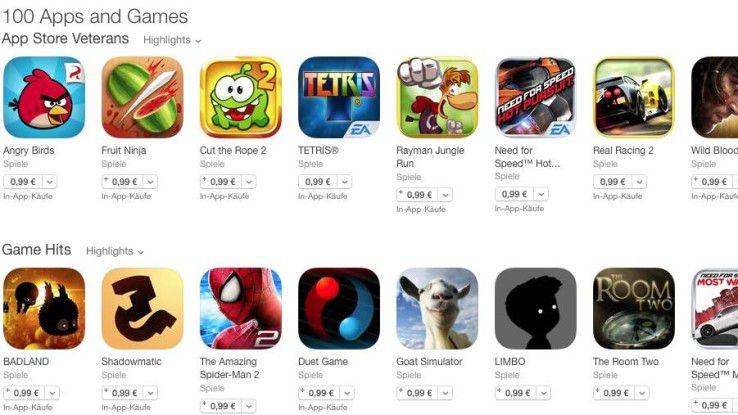 Top Apps für 99 Cent.