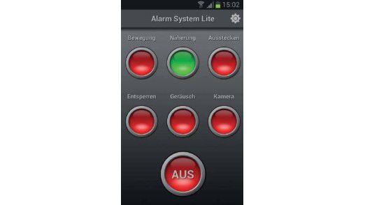2. Die mobile Alarmanlage kann für verschiedene Zwecke genutzt werden.
