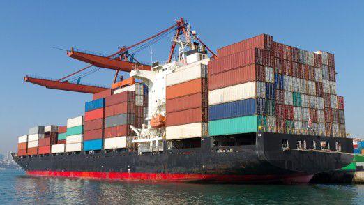 Die deutsche Exportwirtschaft legt zu.