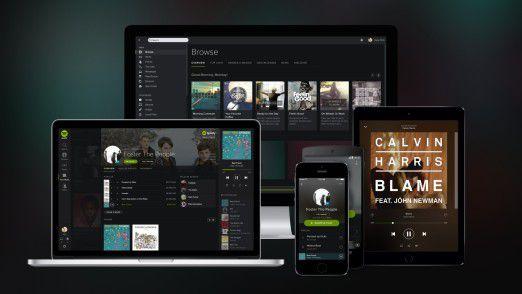 Spotify auf dem Smartphone, Tablet, Notebook oder Desktop PC. Und nun auch im Tesla.