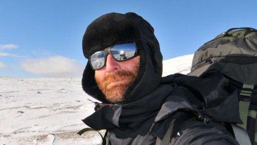 CIO Karsten Häcker bei seinem Streifzug durch die Arktis