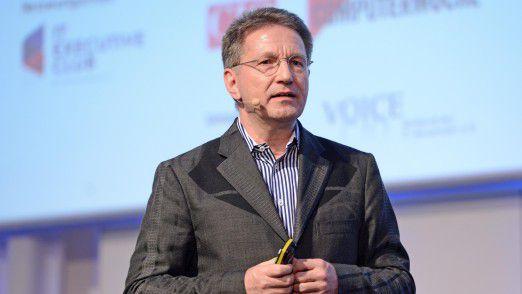 Martin Petry, CIO der Hilti AG, auf den Hamburger IT-Strategietagen.