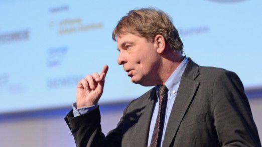 Peter Buxmann, Professor für Wirtschaftsinformatik an der TU Darmstadt, auf den Hamburger IT-Strategietagen.