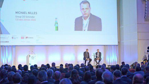 Hamburger IT-Strategietage 2016: Schindler CIO Michael Nilles (rechts) im Gespräch mit Moderator Horst Ellermann