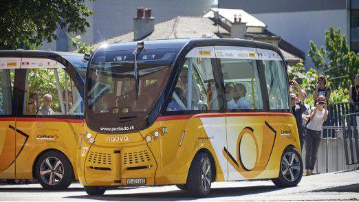 PostAuto Schweiz testet selbstfahrende Busse im Nahverkehr.