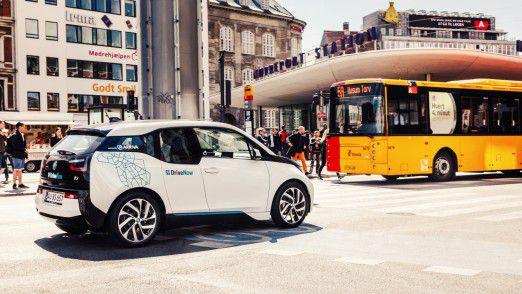 BMW i3 vom Anbieter DriveNow.