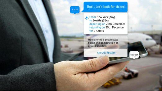 App-Alternative: Mit Chatbots lassen sich bereits im Messenger-Dialog Flugtickets buchen.
