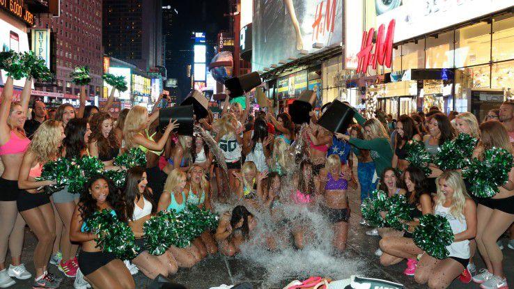 Ice Bucket Challenge in New York