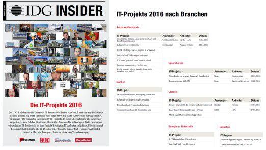 """Welche großen IT-Projekte es im Jahr 2016 gab, lesen Sie im IDG Insider """"IT-Projekte 2016""""."""