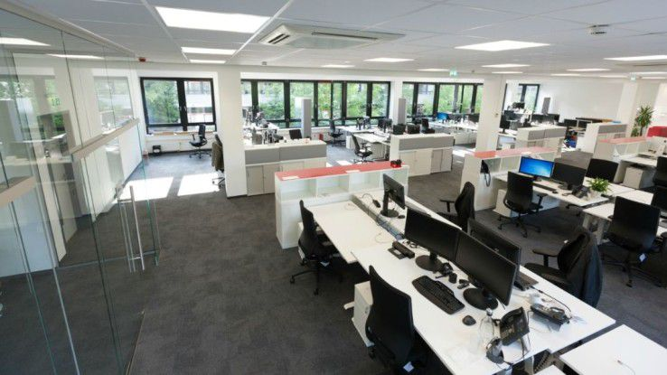 Das neu gestaltete Büro des Carglass-IT-Teams erleichtert die Zusammenarbeit.