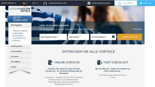 Accor bietet Hotelgästen einen Online Check-In an.