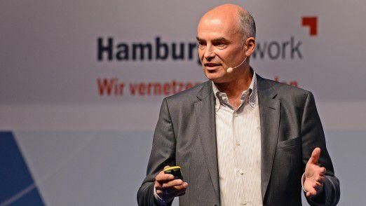 Bayer CIO Daniel Hartert auf den Hamburger IT-Strategietagen.