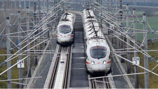 Über eine Milliarde Kilometer legen die Züge jährlich in Deutschland zurück.