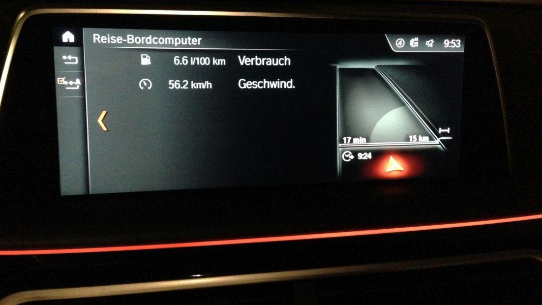 BMW 730d (G11): Verbrauch: Fahrtstrecke: 15 km - cio de