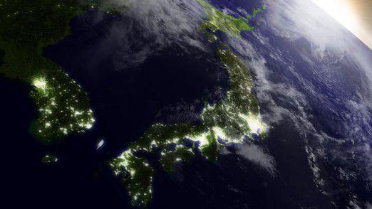 Japan aus der Satellitenperspektive.