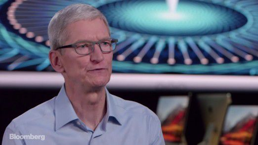 Tim Cook im Bloomberg-Interview.
