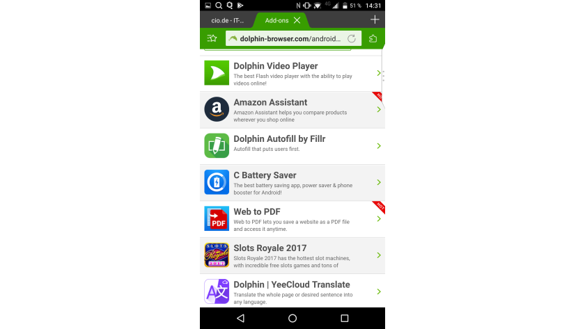schnellster browser android