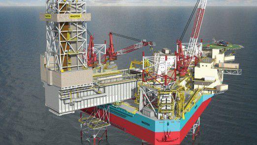 Maersk Drilling bohrt vor der norwegischen Nordseeküste nach Öl.