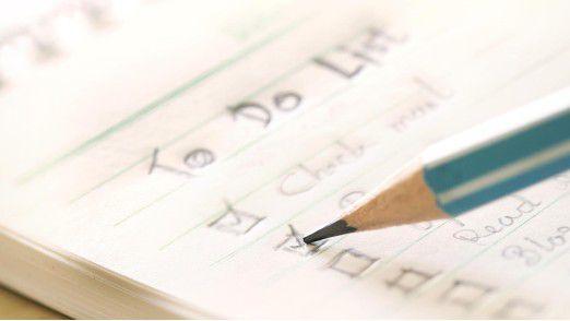 Nur elf Prozent der Angestellten haben am Ende des Arbeitstages alle Punkte auf ihrer To-Do-Liste abgearbeitet.