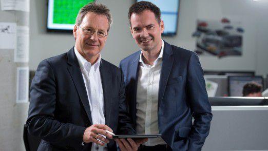 CDO und Geschäftsführer Manfred Immitzer (li.) zusammen mit seinem Geschäftsführerkollegen Rainer Trischak von der IT-Tochter Porsche Informatik.