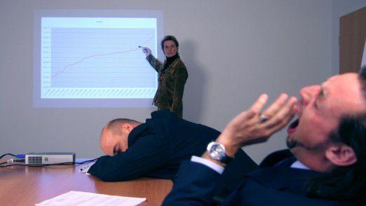 In diesem Artikel finden Sie die typischen Fehler langweiliger Redner.