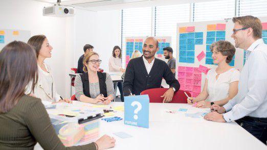 In der Projektarbeit auf dem IT-Campus werden Innovationsmethoden wie Design Thinking angewandt.