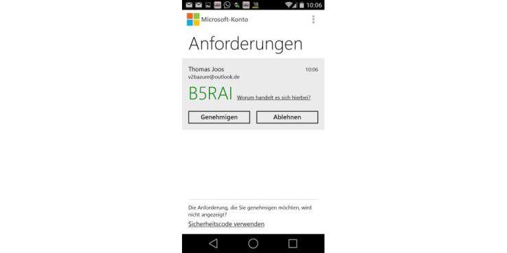 Windows 10 kann zusätzlich mit Zwei-Wege-Authentifizierung abgesichert werden, auch über das Smartphone