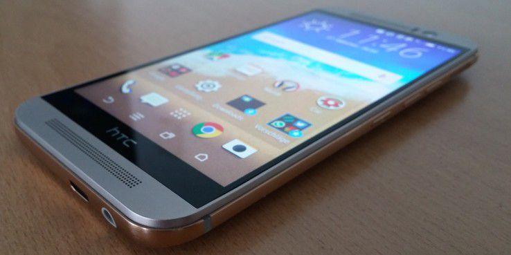 Die Hauptfarbe des neuen HTC One M9 ist Gold-Silber - richtig schick!