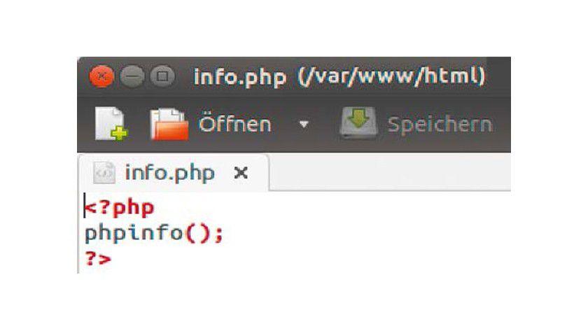 PHP-Infodatei auf dem Server: Drei Zeilen PHP-Code genügen, um sich die aktuelle Konfiguration von PHP auf dem Server anzusehen.