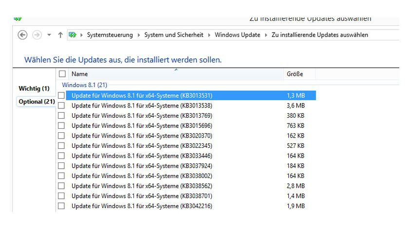 Über 20 neue, optionale Windows-Updates hat Microsoft außer der Reihe veröffentlicht.