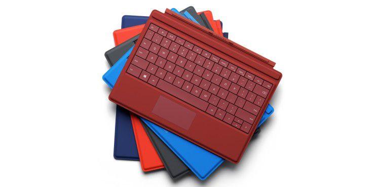 Aufpreis: Das Type Cover kostet 150 Euro extra. Es ist in fünf verschiedenen Farben erhältlich.