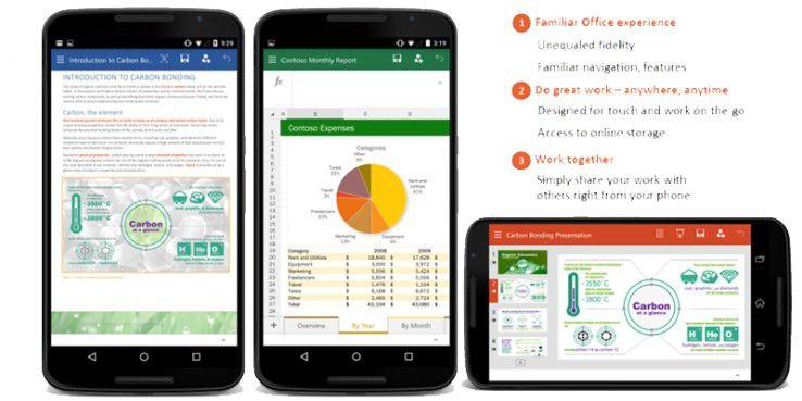 Neue Office-Apps vom Microsoft für Android
