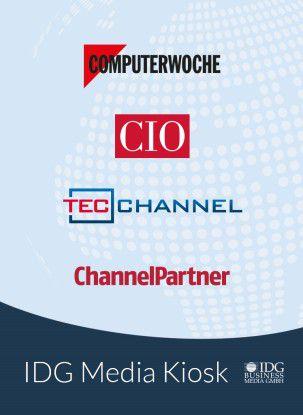 """ChannelPartner, Computerwoche, CIO und TecChannel: Alle Heftausgaben aus unserem Verlagsbereich können über die App """"IDG Media Kiosk"""" bequem auf einem Mobil-Gerät gelesen werden."""