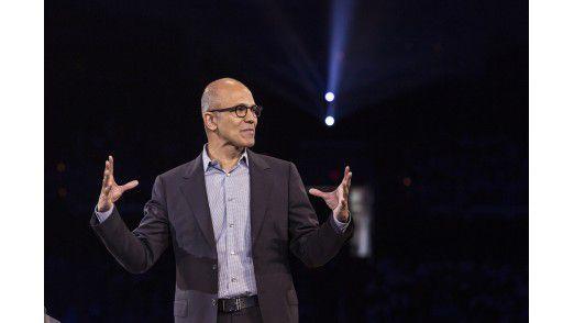 Börse honoriert seine Fortschritte beim Konzernumbau: Satya Nadella, CEO von Microsoft.