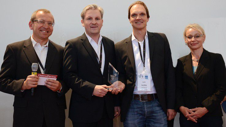 Ronald Wiltscheck, ChannelPartner; Lars Epp, imcopex; Denis Rathig. atlantis media; Regina Böckle, ChannelPartner