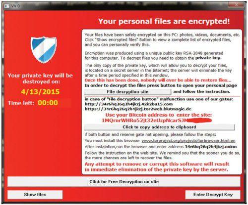 Ransomware ist bei Online-Kriminellen noch immer beliebt.