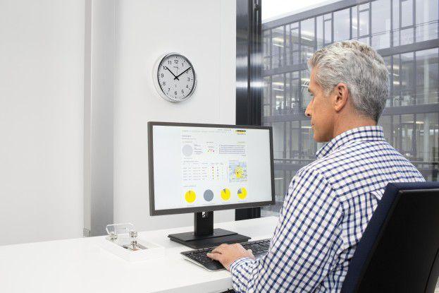 Kärcher Fleet: Über ein Web-Portal können die gesammelten Informationen zu Flotte und Einzelmaschinen eingesehen werden.