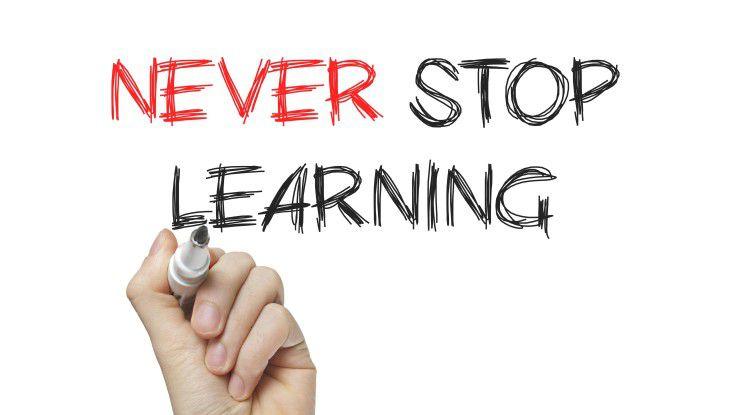 Im Beruf up to date sein, heißt permanentes Lernen - heute und in Zukunft mehr denn je.