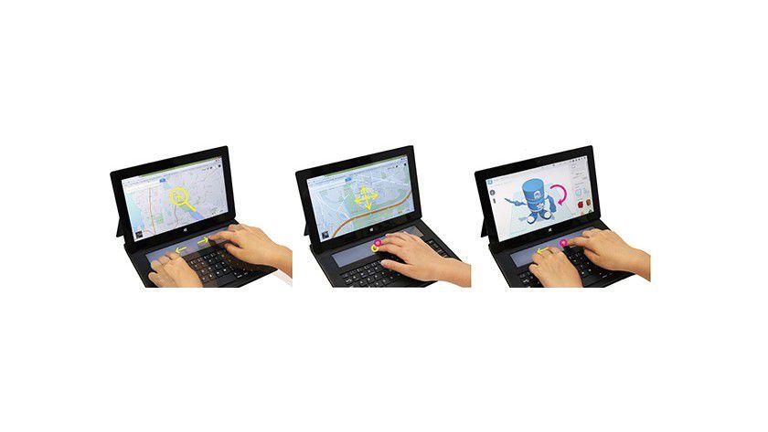 DisplayCover - Die Tastatur verfügt über ein berührungsempfindliches E-Ink-Display.