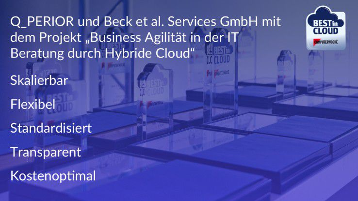 Die Best in Cloud Facts zum Projekt.