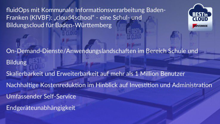 Die Best in Cloud Facts zum Projekt