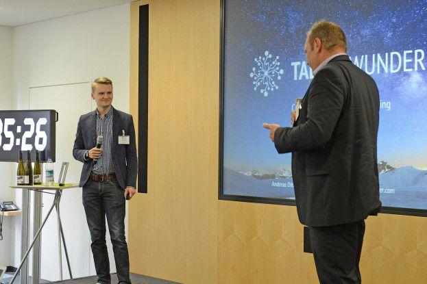 IBM und Talentwunder beim Live-Pitch vor der Jury.