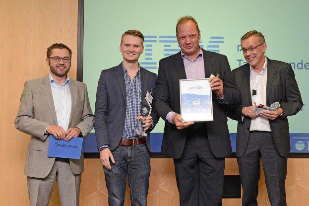 Der Preis für die beste Geschäftsidee ging ebenfalls an IBM und Talentwunder.