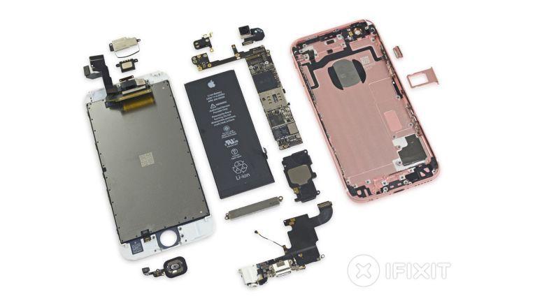 Von iFixit zerlegtes iPhone 6s: Die aktuellen SoCs in iPhone und iPad basieren auf einem von ARM lizenzierten Design.