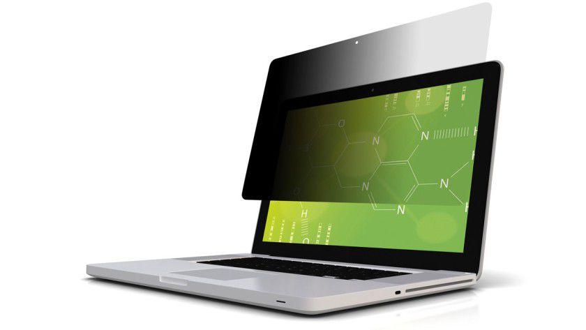 Notebook mit 3M-Blickschutzfolie
