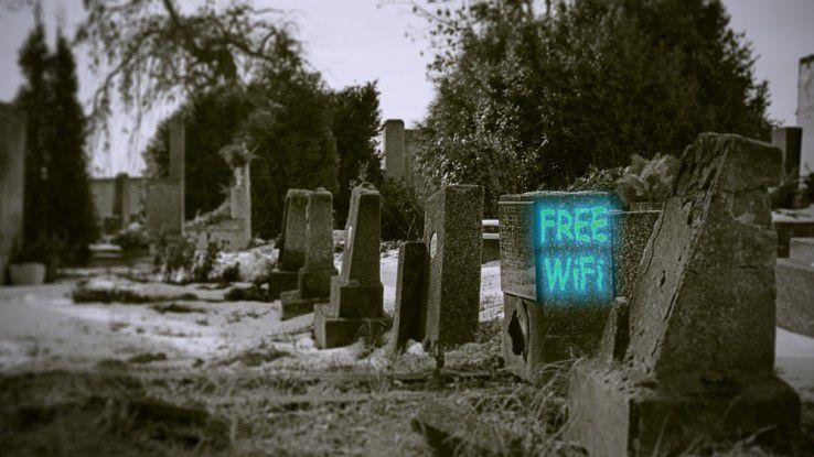 """Zum nahenden Halloween-Fest präsentieren wir Ihnen vier Tipps gegen """"böse WLAN-Geister"""" in Unternehmensnetzwerken."""