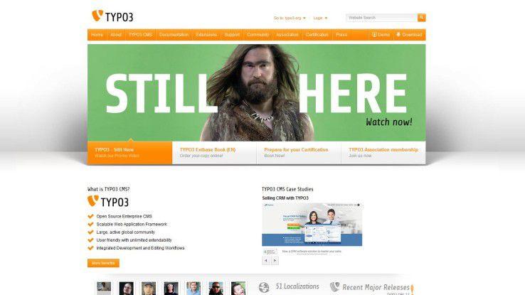 TYPO3-Homepage im November 2015